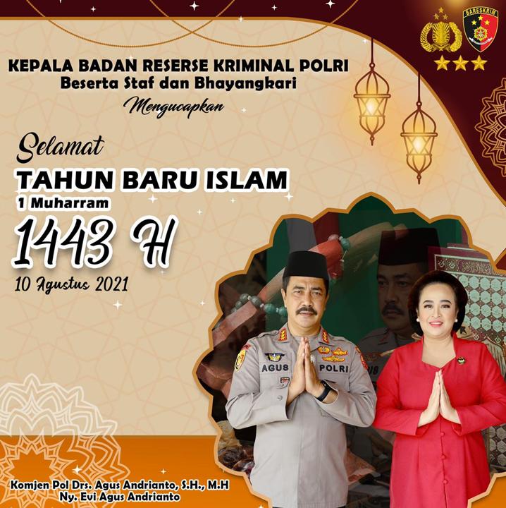 Kabarareskrim Polri selamat tahun baru hijriyah 1443